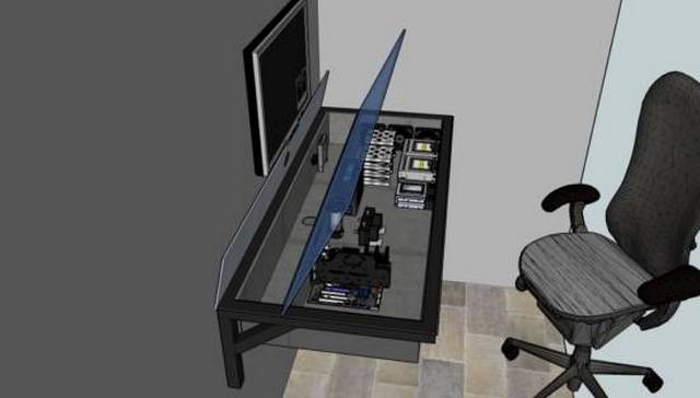 computer built in desk,電腦辦公桌