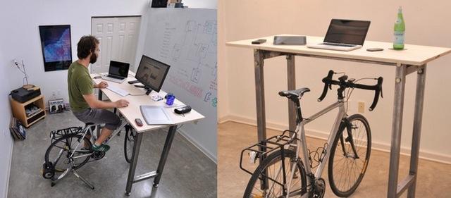 腳踏車辦公桌