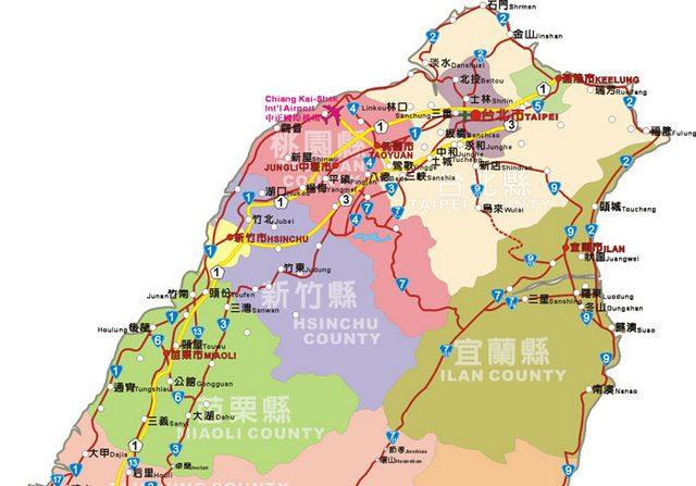 北台灣地圖