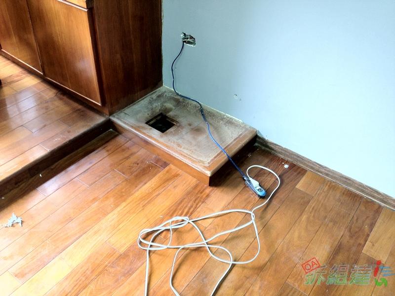 高架實木地板畸零角落
